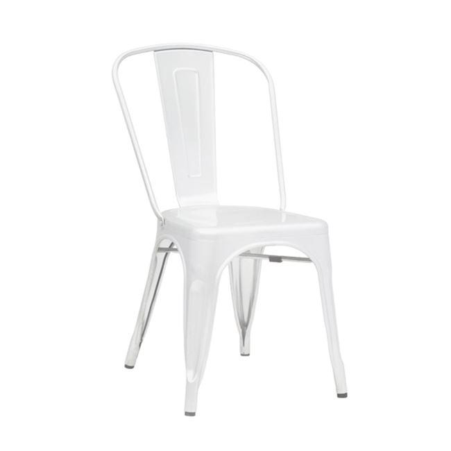 бял метален градински стол 5191