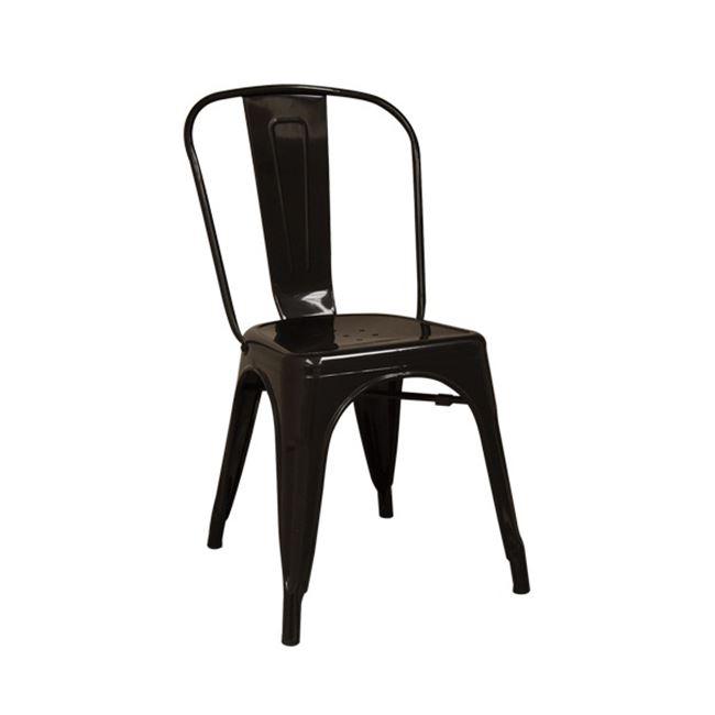 черен метален стол градински 5191,1
