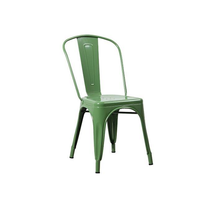зелен метален градински стол 5191,3