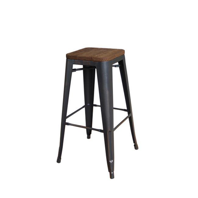 състарено черен метален бар стол E 5109W,10