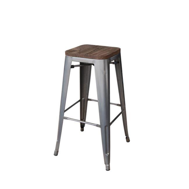 сив метален бар стол E 5109W,6