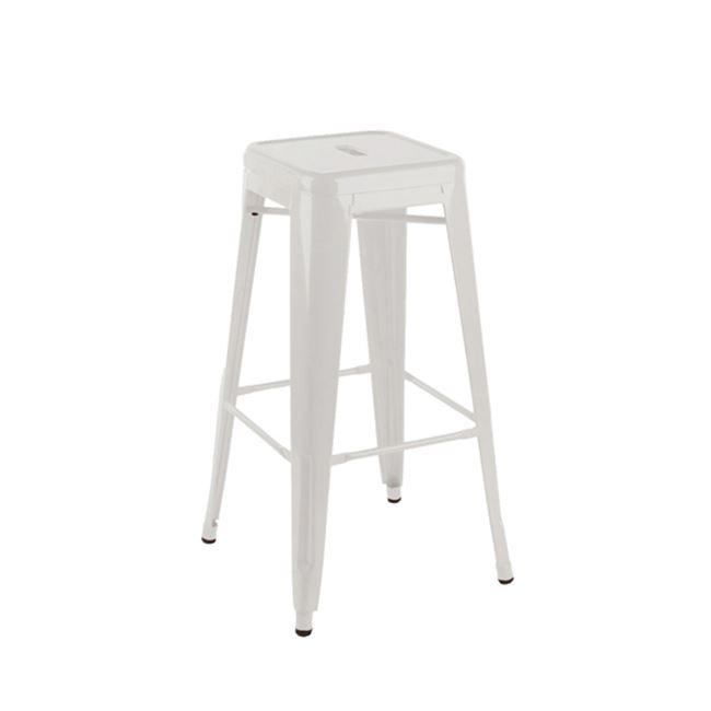 бял метален бар стол E 5190