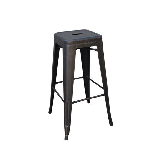 състарено черен метален бар стол E 5190,10