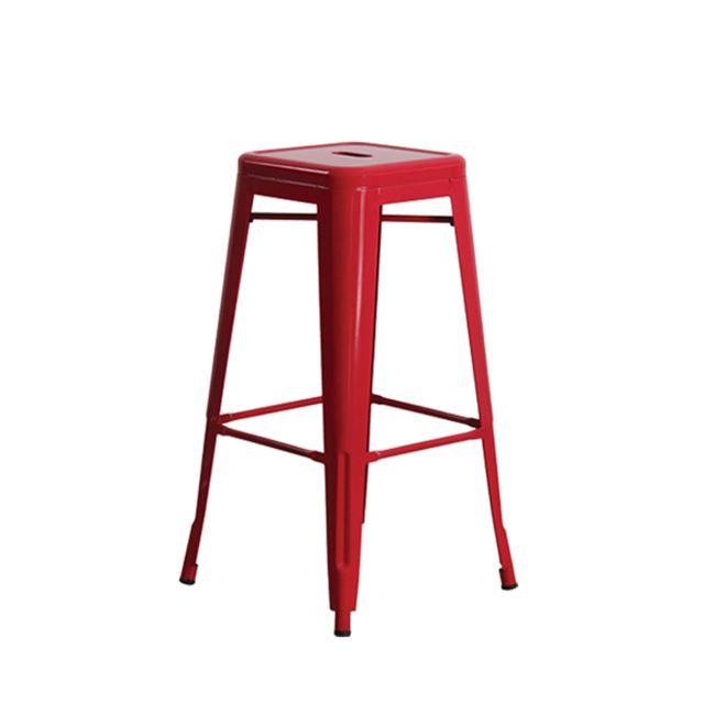 Червен метален бар стол E 5190,2