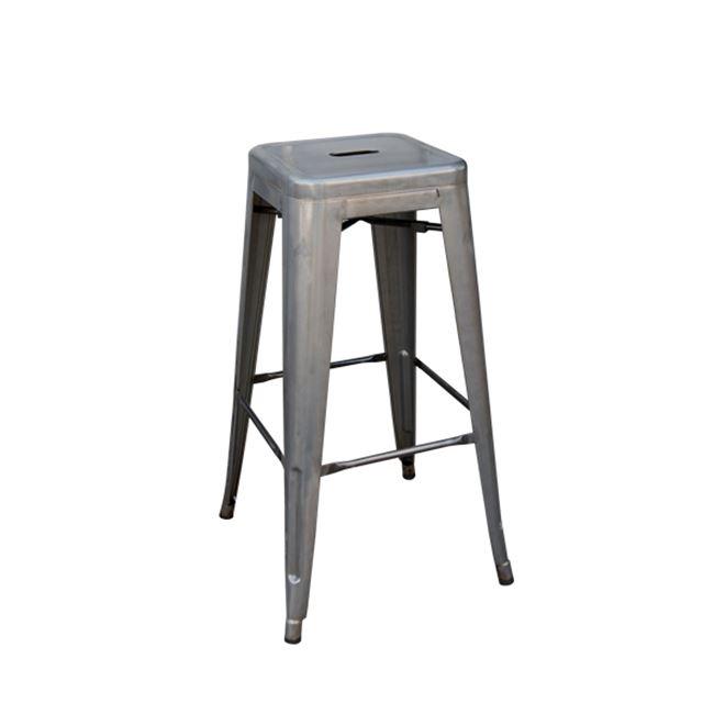 сив метален бар стол E 5190,6
