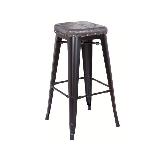 черен градински бар стол E 5190P,12M