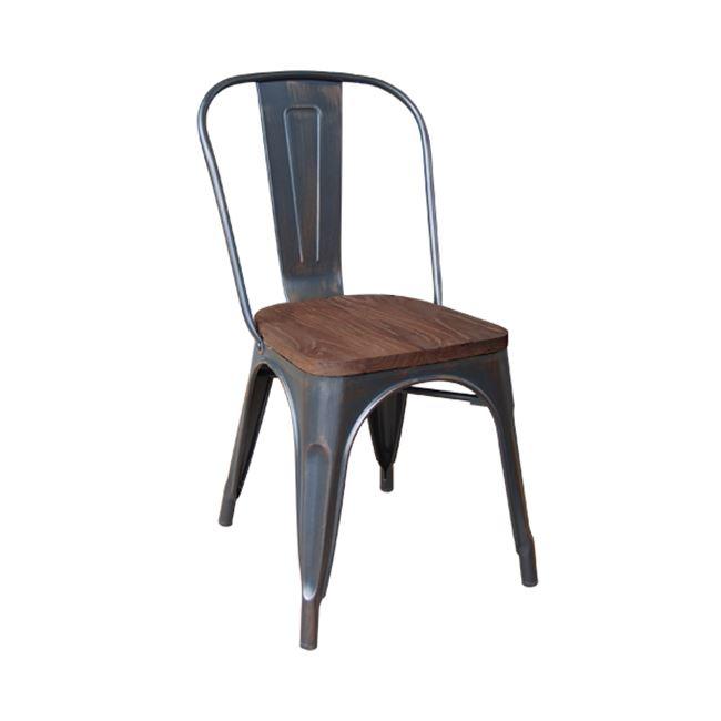 черен градински метален стол E 5191W,10