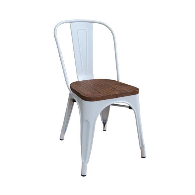 бял градински метален стол E 5191w