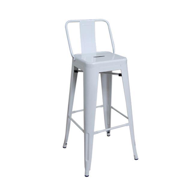 бял метален бар стол E 5199