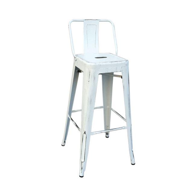 състарено бял метален бар стол E 5199,12