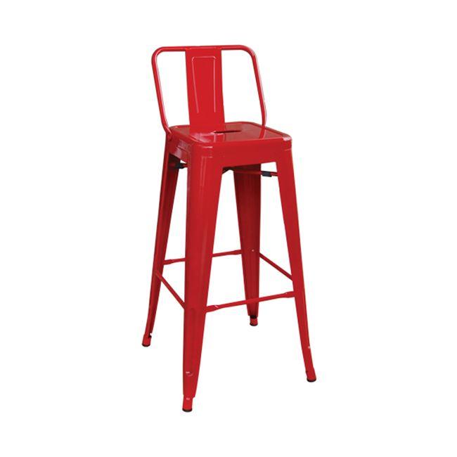 червен метален бар стол E 5199,2