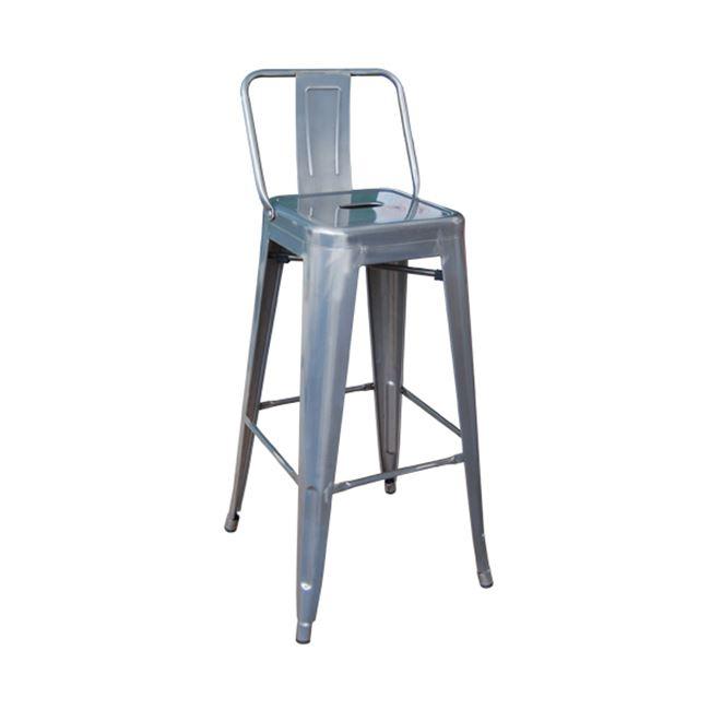 сив метален бар стол E 5199,6