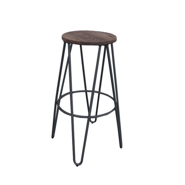 черен,градински,метален,бар стол E 5207,1