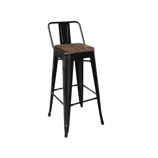 черен метален бар стол E 5208,1