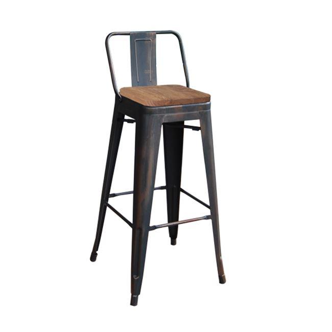 състарено черен бар стол E 5208,10