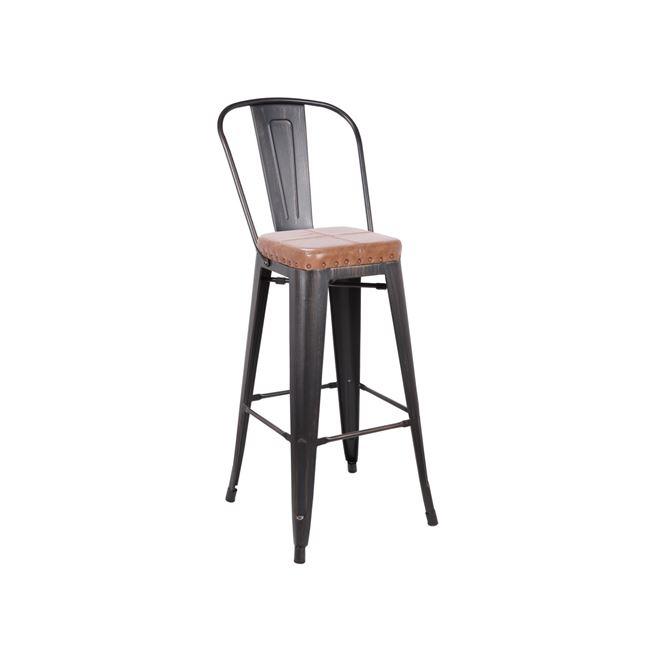 черен метален бар стол E5109P,104