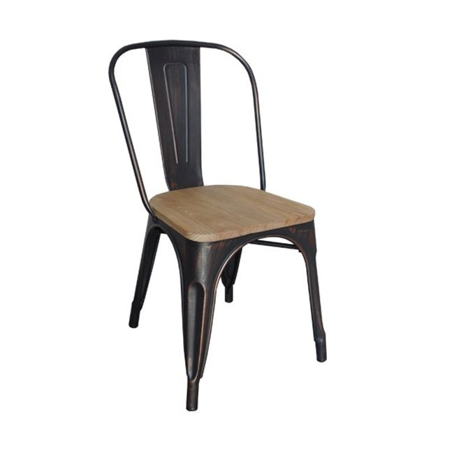 черен градински метален стол E5191W,10N