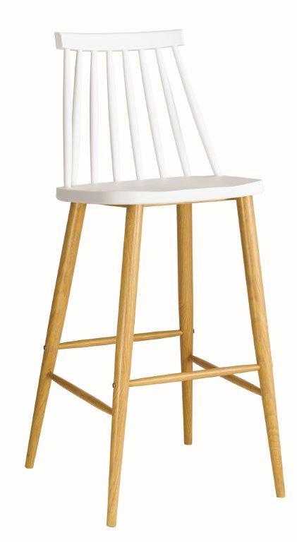 бар стол ,бял,градински EM 153,1