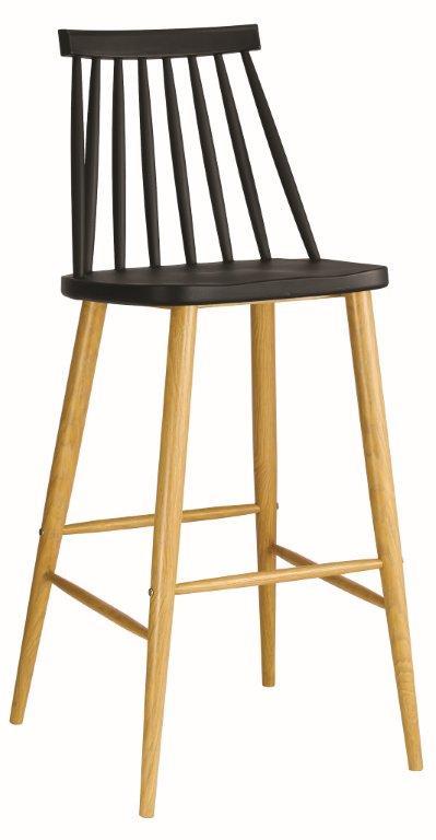 бар стол,черен,градински EM 153,2