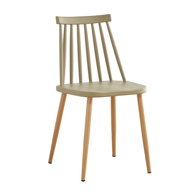 бежов градински стол с метални крака EM139,91W