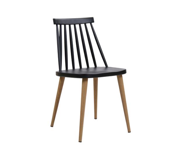 черен градински стол с метални крака Em 139,2W