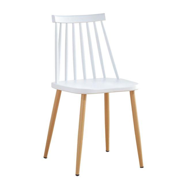 бял градински стол с метални крака Lavida