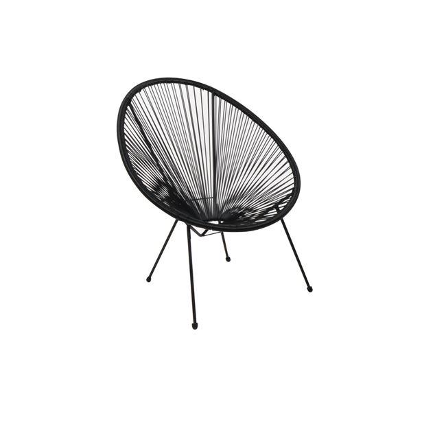 черен градински стол acapulco black