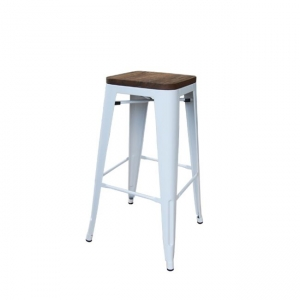 бял метален бар стол e-00015504-enlarge