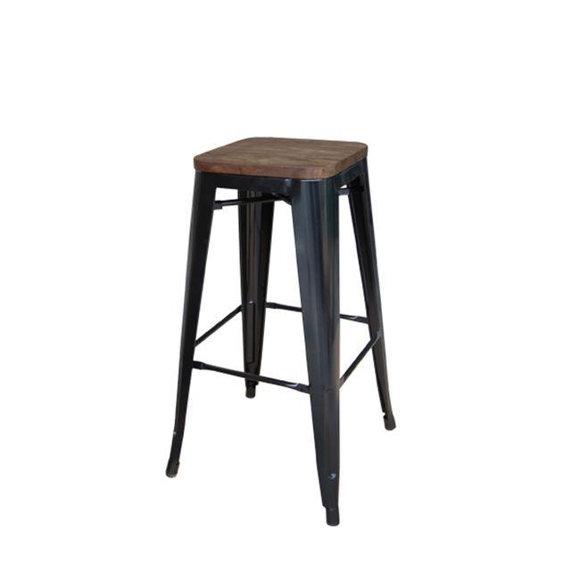 черен метален бар стол e 5109W,10N
