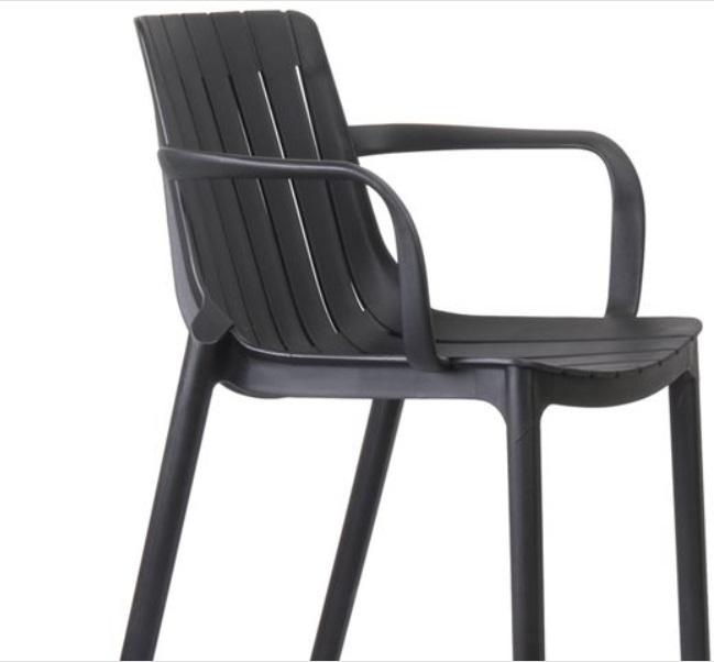 черен стол от полипропилен palmer5
