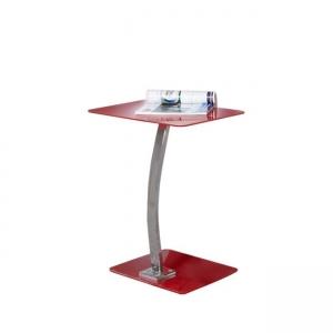 червена холова масичка със стъкло Solid EO 400,2