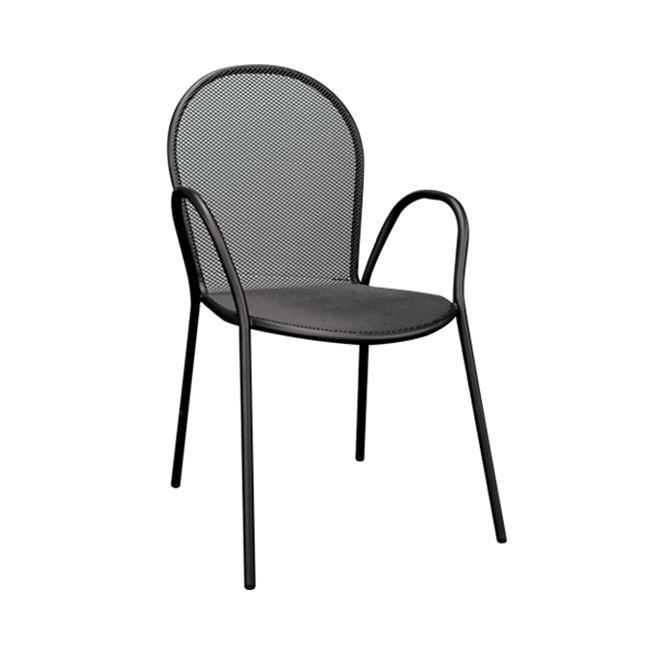черен,метален,градински стол antico
