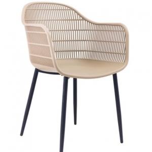 бежов стол,градински,с метални кракаа berry 2