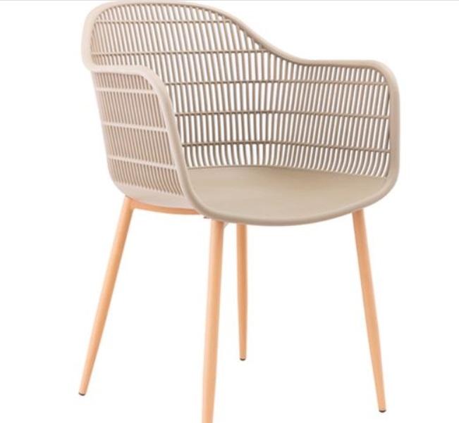 бежов градински стол с метални крака berry 4
