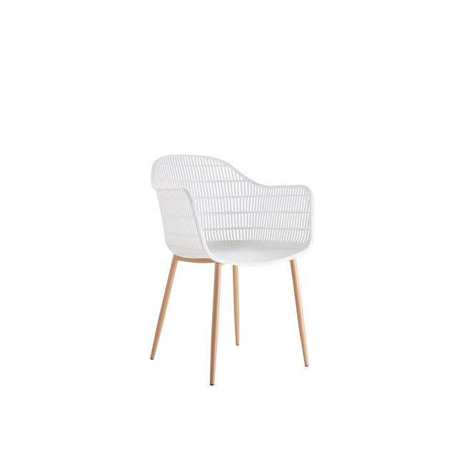 бял стол с метлни крака berry 5