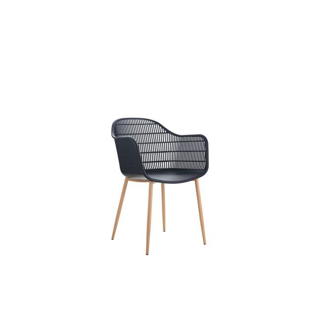 черен градински стол berry6