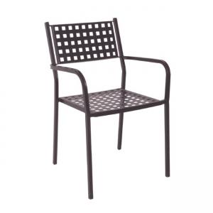 кафяв метален градински стол caprice brown