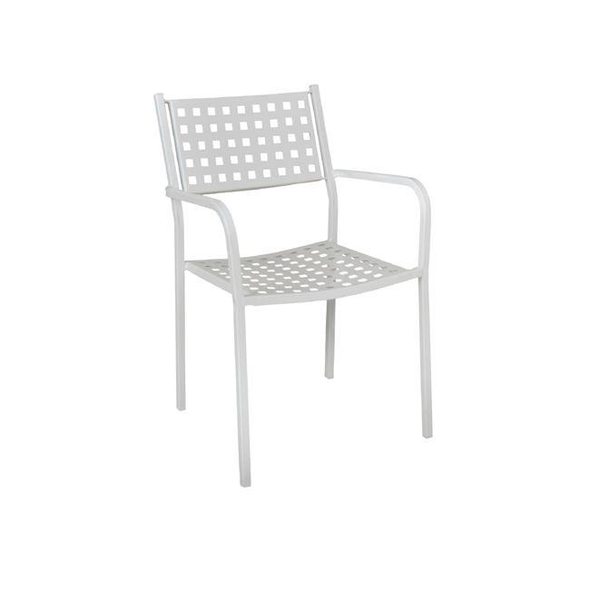 бял метален стол caprice white
