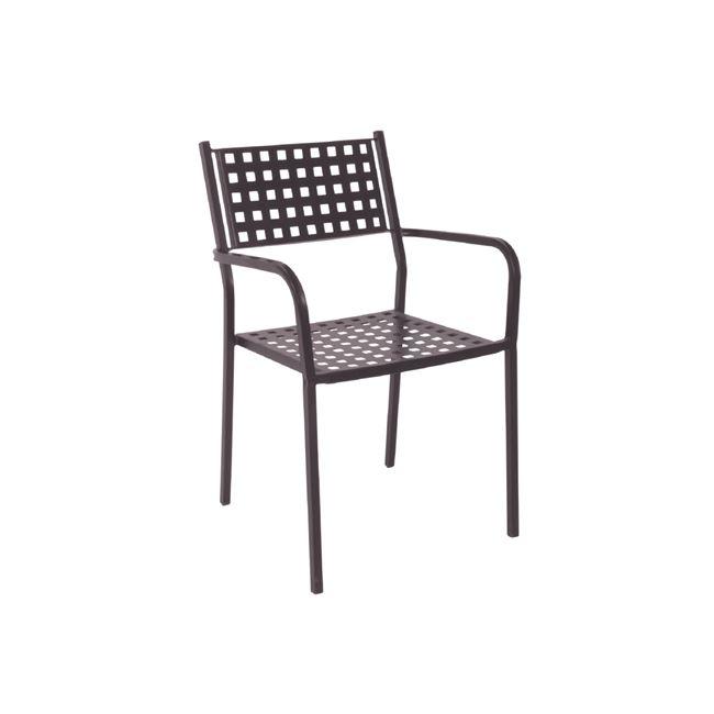 черен,градински,метален стол caprice