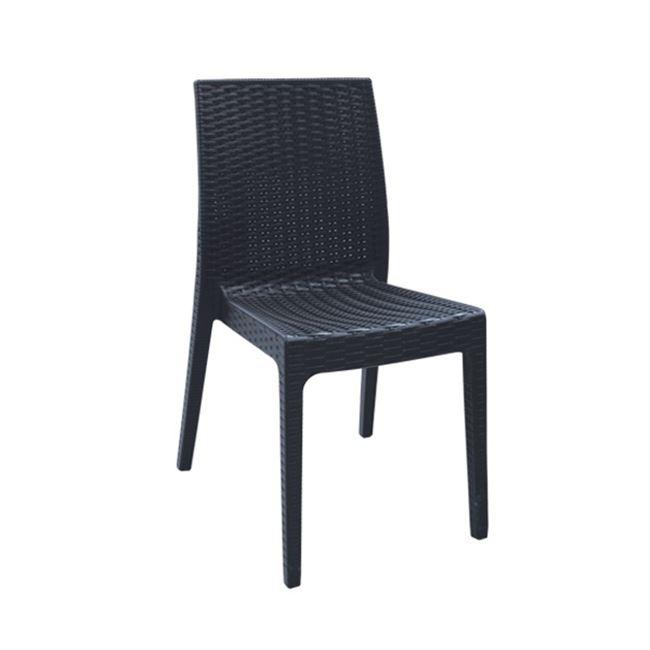 черен градински стол dafne antracite