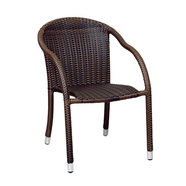 кафяв алуминиев стол от изкуствен ратан fiesta