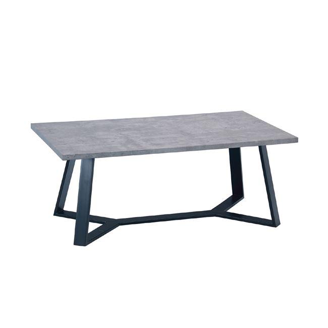 сива холова маса с дървен плот hanson EM 755,3