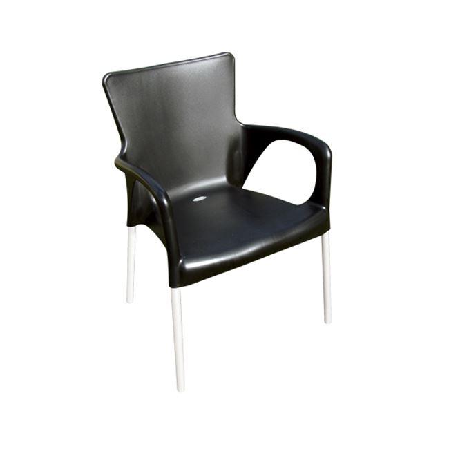черен градински стол lara Black
