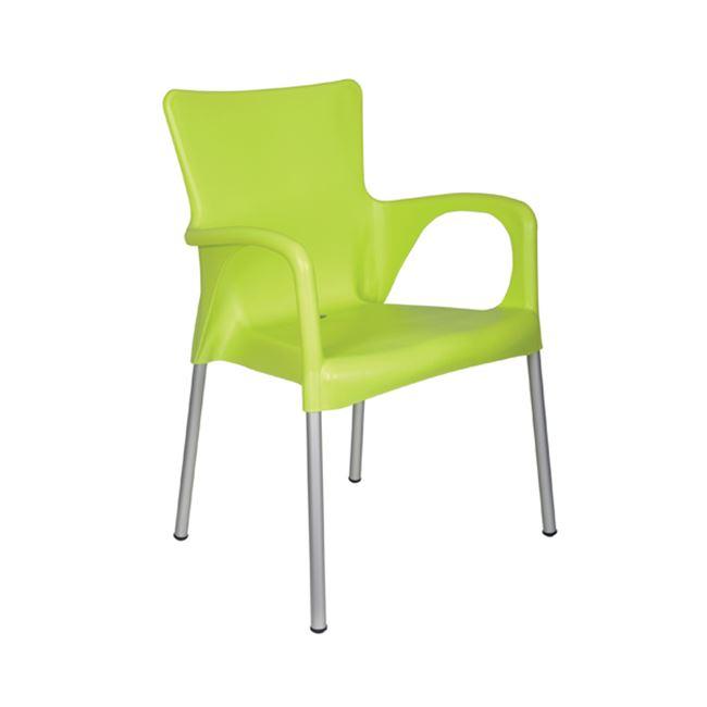 зелен градиснки стол lara green
