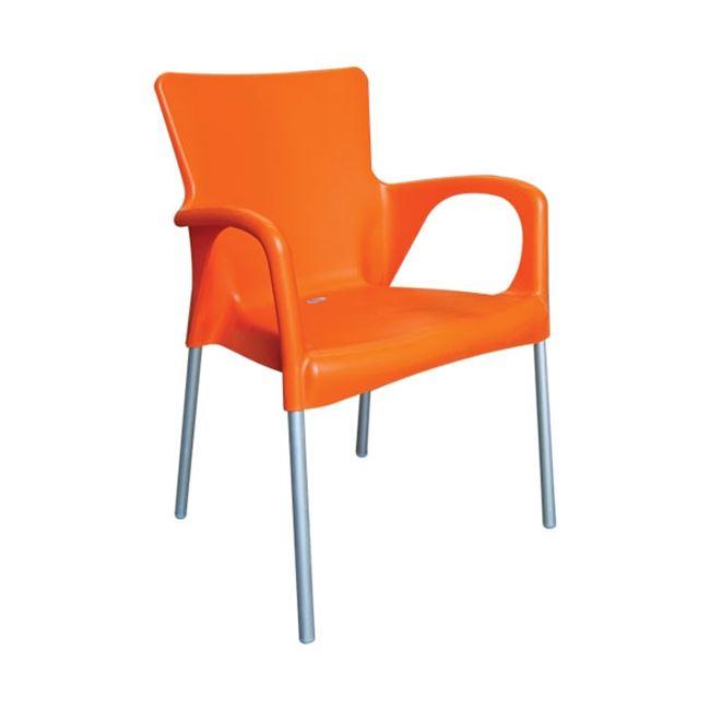оранжев градински стол lara or.