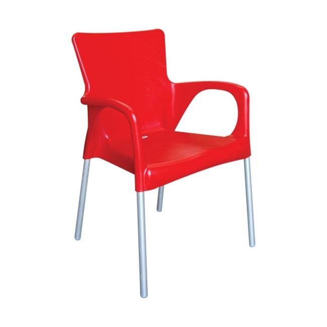 червен градински стол lara red