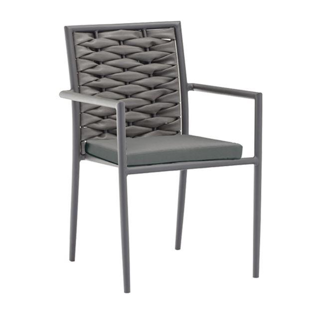 сив стол от изкуствен ратан vital grey