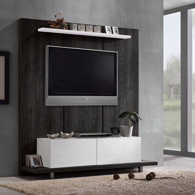 ТВ стена,маса,плоскости,венге,бяло,ЕМ 380