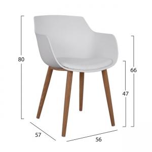Бял стол,полипропилен и алуминий НМ 8242.01