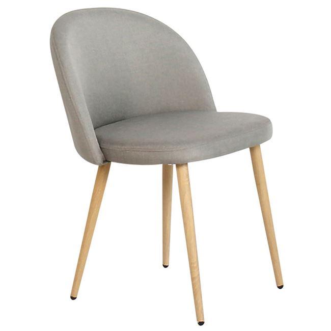 Светлосив стол BELLA с метални крака